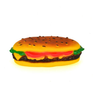 Dog Chew Toy Squeak Cheese Burger